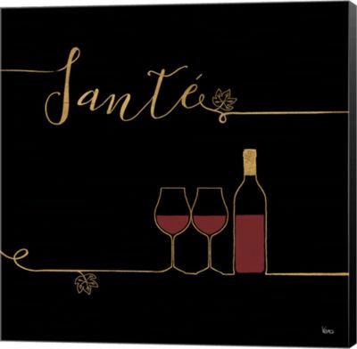 Metaverse Art Underlined Wine VI Black Canvas WallArt