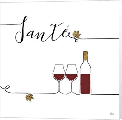 Metaverse Art Underlined Wine VI Canvas Wall Art