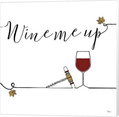 Metaverse Art Underlined Wine VII Canvas Wall Art