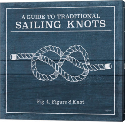 Metaverse Art Vintage Sailing Knots IV Canvas WallArt