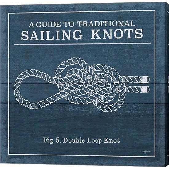 Metaverse Art Vintage Sailing Knots V Canvas Wallart
