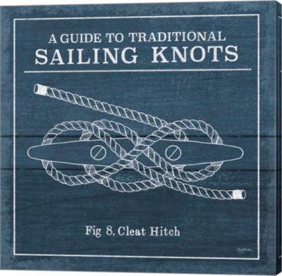 Metaverse Art Vintage Sailing Knots VII Canvas Wall Art