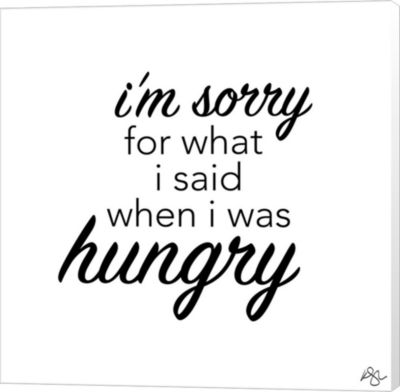 Metaverse Art When I Was Hungry Canvas Wall Art