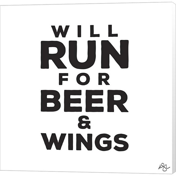 Metaverse Art Will Run For Beer And Wings Canvas Wall Art