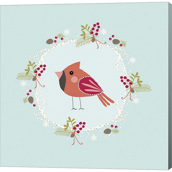 Metaverse Art Winter Bird Canvas Wall Art