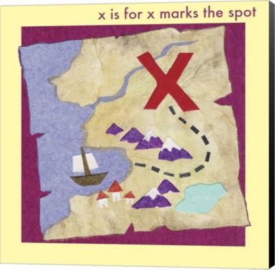 Metaverse Art X marks The Spot Canvas Wall Art