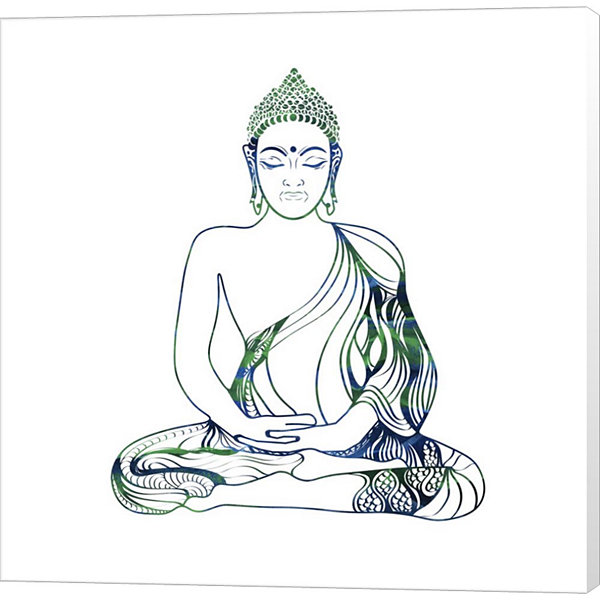 Metaverse Art Yoga Symbol V3 Canvas Wall Art