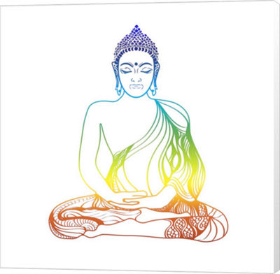 Metaverse Art Yoga V1 1 Canvas Wall Art