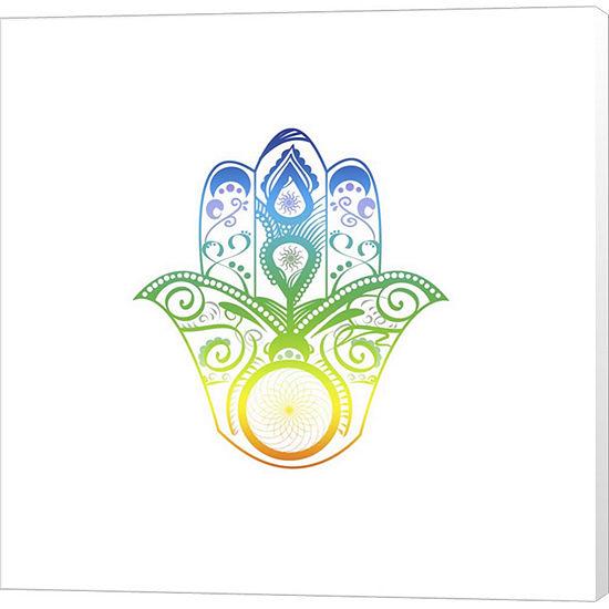 Metaverse Art Yoga V1 4 Canvas Wall Art