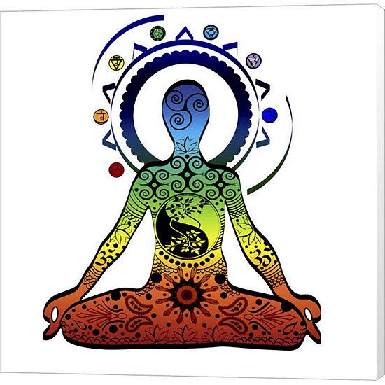 Metaverse Art Yoga V5 Canvas Wall Art