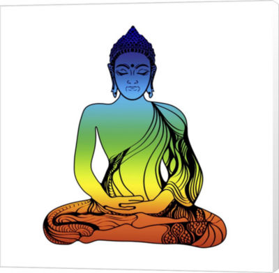 Metaverse Art Yoga V6 Canvas Wall Art