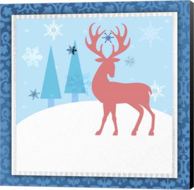 Metaverse Art Christmas Deer 2 Canvas Wall Art