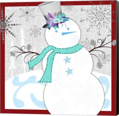 Metaverse Art Christmas Snowman 1 Canvas Wall Art