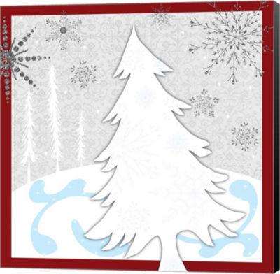 Metaverse Art Christmas Snowman Tree Canvas Wall Art