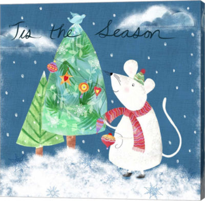 Metaverse Art Xmas Mouse Canvas Wall Art