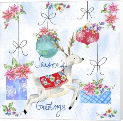 Metaverse Art Xmas Reindeer Canvas Wall Art