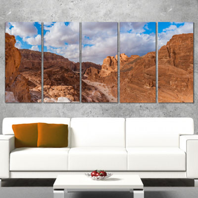 Designart White Canyon at South Sinai Egypt Landscape CanvasArt Print - 4 Panels