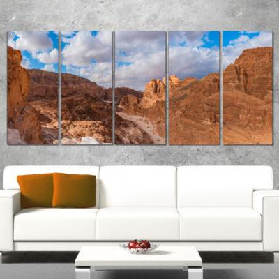 White Canyon at South Sinai Egypt Landscape Wrapped Art Print - 5 Panels