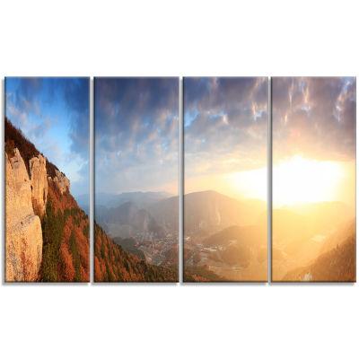 Designart Cave City Eski Kermen Landscape Photography CanvasArt Print - 4 Panels