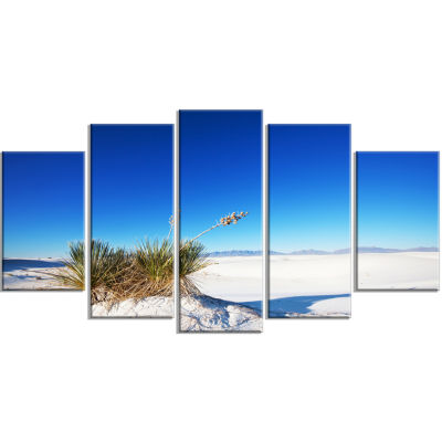 White Sands Park in Usa Landscape Wrapped Art Print - 5 Panels