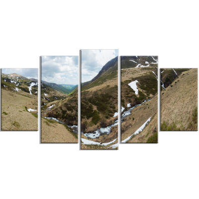 Wild Sprint Mountain Panorama Landscape Artwork Wrapped - 5 Panels