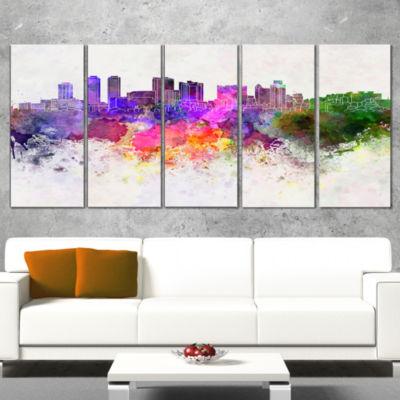 Designart Colombo Skyline Cityscape Canvas ArtworkPrint - 5Panels
