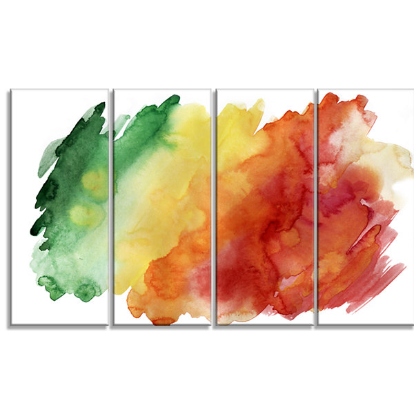Designart Color Explosion Abstract Canvas Art Print - 4 Panels