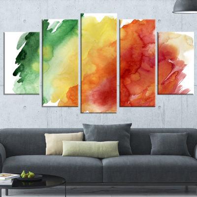 Designart Color Explosion Contemporary Canvas ArtPrint - 5Panels