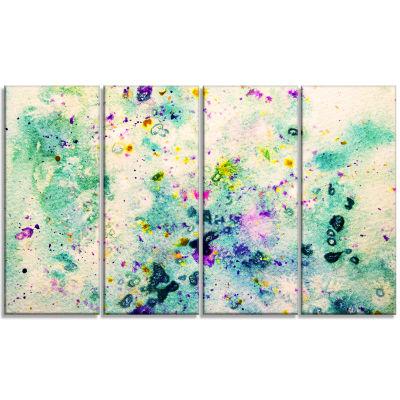 Color Splatter Abstract Canvas Art Print - 4 Panels