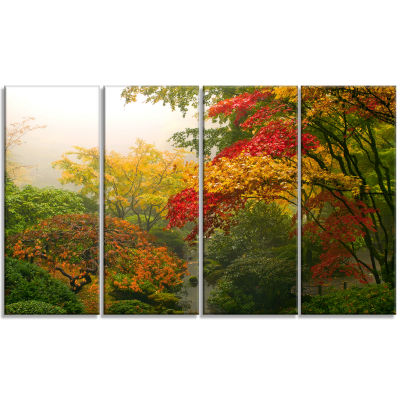 Colorful Maple Trees Floral Photography Art - 4 Panels