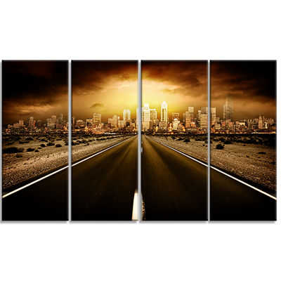 Designart World S End Landscape Photography CanvasArt Print- 4 Panels