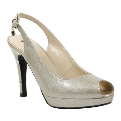 Palizzio Womens Delmer Pumps Buckle Peep Toe Stiletto Heel