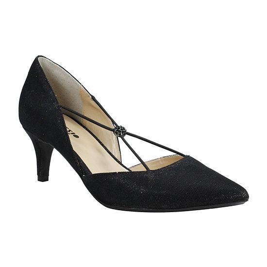 Palizzio Womens Parnika Pumps Elastic Pointed Toe Stiletto Heel