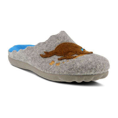 Flexus Womens Digger Slip-On Shoe Round Toe