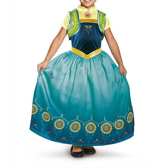 Disney Collection Anna Frozen Fever Deluxe Child Costume Girls Costume