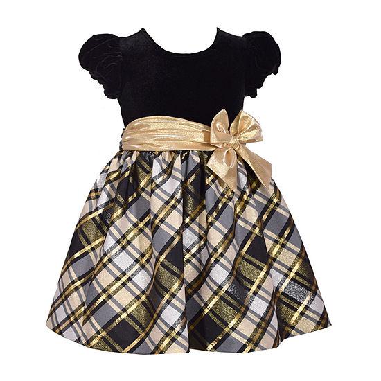 Bonnie Jean Girls Short Sleeve Party Dress - Toddler