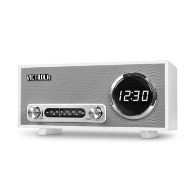 Victrola Bluetooth Digital Clock Stereo with FM Radio and USB Charging