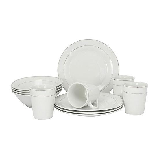 Tuxedo Deluxe 12-pc. Dinnerware Set