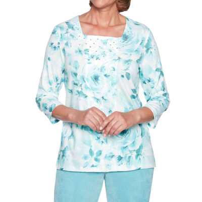 Alfred Dunner Simply Irresistible Floral Lace Top