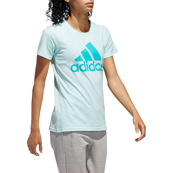03f7257893d75 adidas Short Sleeve Crew Neck T-Shirt-Womens - JCPenney