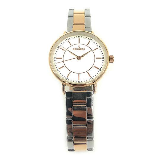 Peugeot Womens Two Tone Bracelet Watch-7101tt