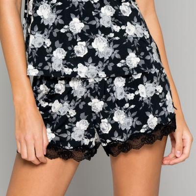 Dorina Womens - Average + Full Figure Satin Pajama Shorts