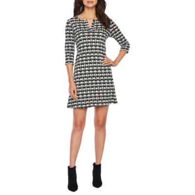 Vivi By Violet Weekend 3/4 Sleeve Trapeze Dress