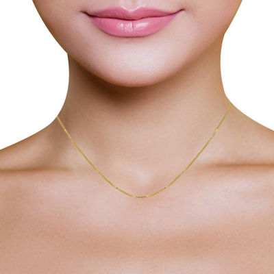10K Gold Venetian Box Chain Necklace