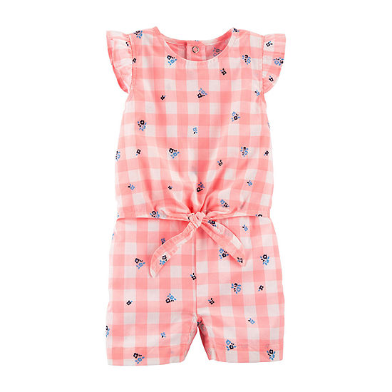 Carter's Baby Girls Short Sleeve Romper