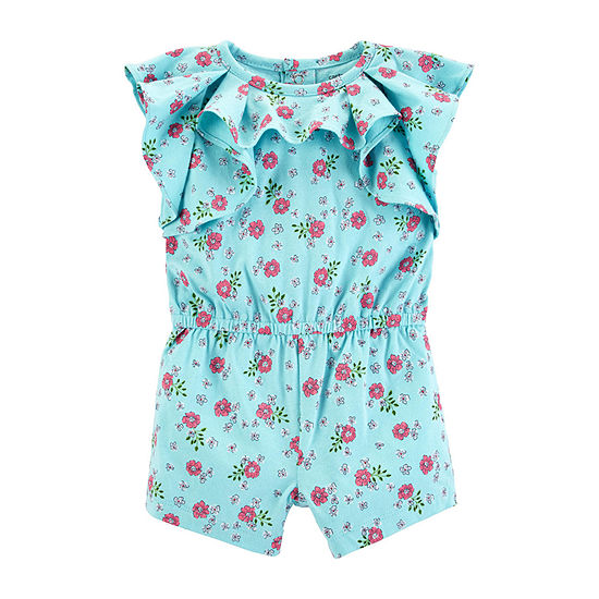 Carter's Girls Short Sleeve Romper - Baby