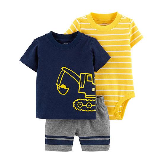 Carter's 3-Pc. Bodysuit Set - Baby Boy 3-pc. Short Set Baby Boys