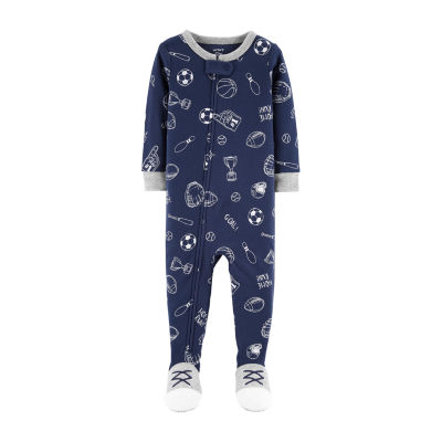 Carter's Long Sleeve Footed One Piece Knit Pajama - Baby Boys