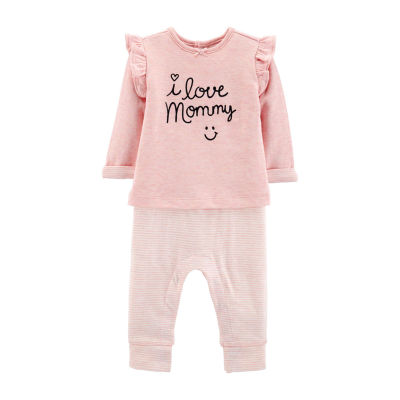 Carter's Doubleknit Coverall - Baby Girl