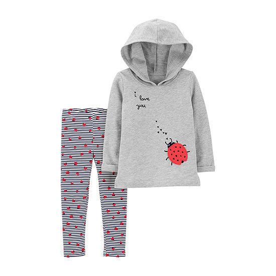 Carters 2 Pc Legging Set Baby Girls
